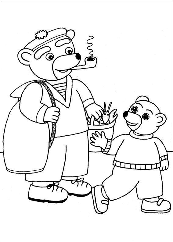 Coloriage a imprimer petit ours brun et papa ours reviennent de la peche gratuit et colorier - Coloriage de petit ours brun ...
