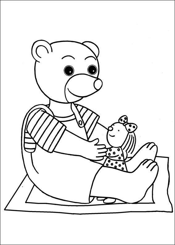 Coloriage a imprimer petit ours brun et son doudou gratuit - Coloriage petit ours brun a imprimer ...
