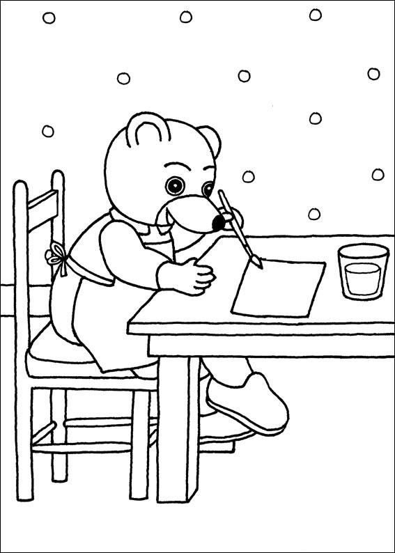 Coloriage a imprimer petit ours brun fait de la peinture - Ours a dessiner ...