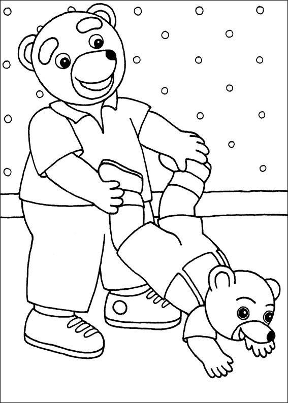 Coloriage a imprimer petit ours brun fait des acrobaties avec son papa gratuit et colorier - Coloriage a imprimer petit ours brun ...