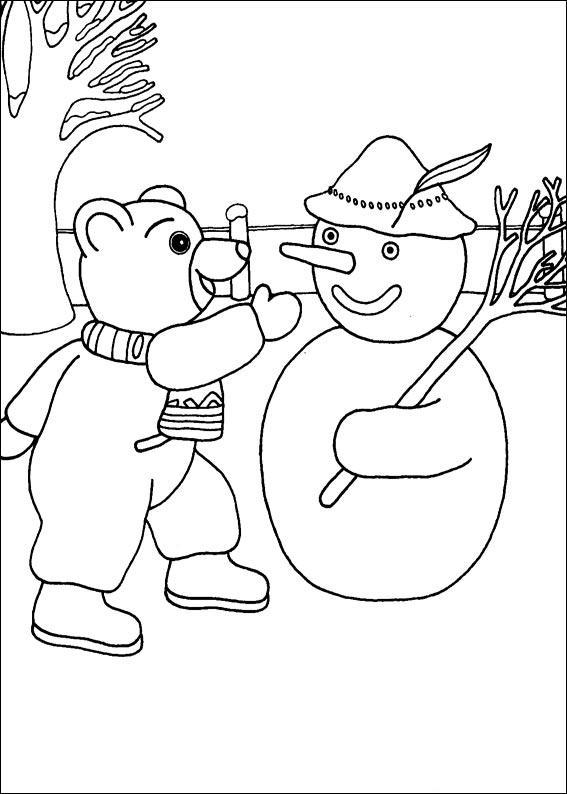 Coloriage a imprimer petit ours brun fait un bonhomme de - Coloriage petit ours brun a imprimer ...