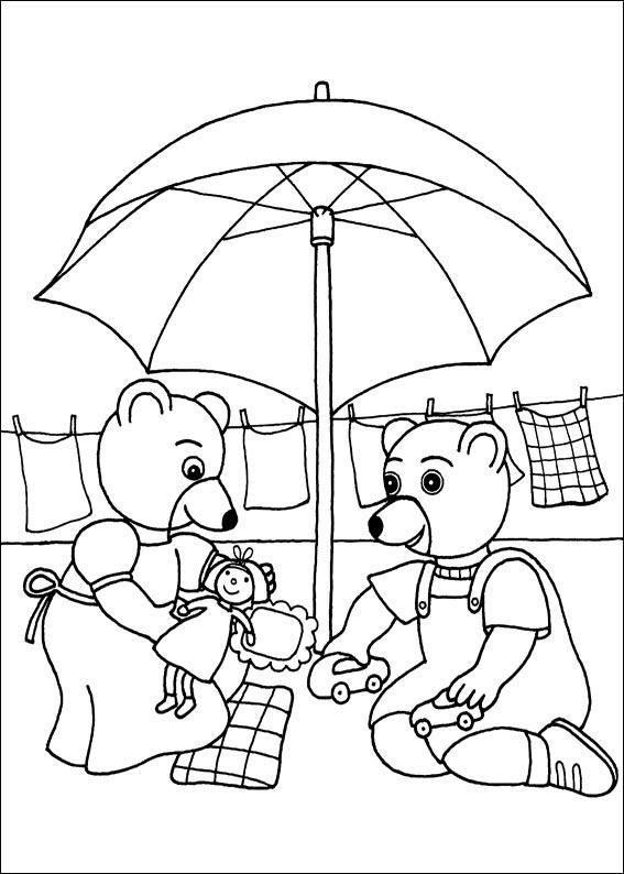 Coloriage a imprimer petit ours brun joue a la voiture - Coloriage petit ours brun a imprimer ...
