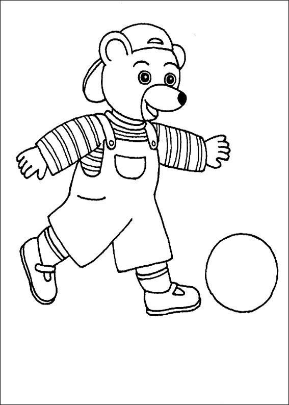 Coloriage a imprimer petit ours brun joue au foot gratuit - Coloriage petit ours brun a imprimer ...