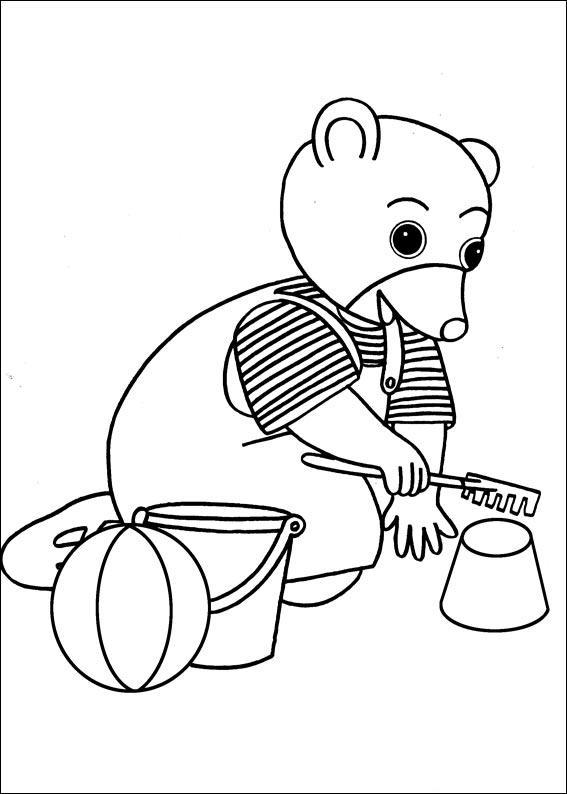 Coloriage a imprimer petit ours brun joue au sable gratuit - Coloriage petit ours brun a imprimer ...
