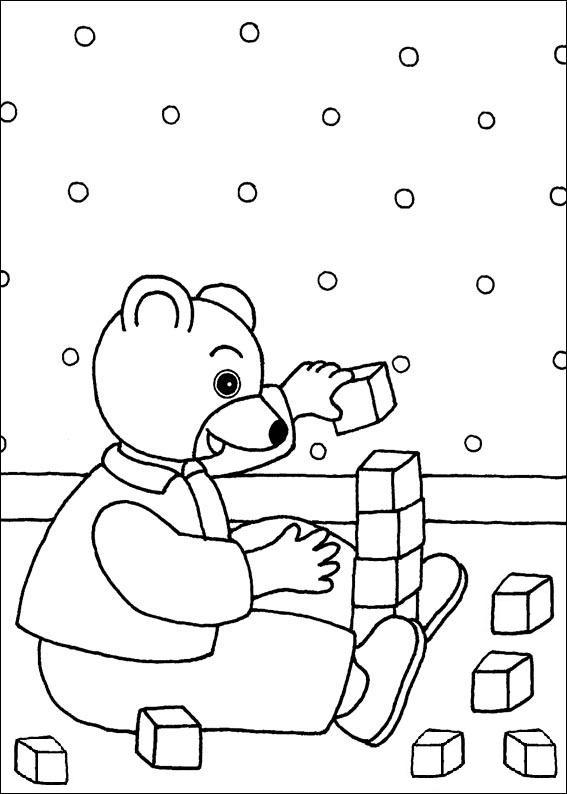 Coloriage a imprimer petit ours brun joue aux cubes - Coloriage petit ours brun a imprimer ...