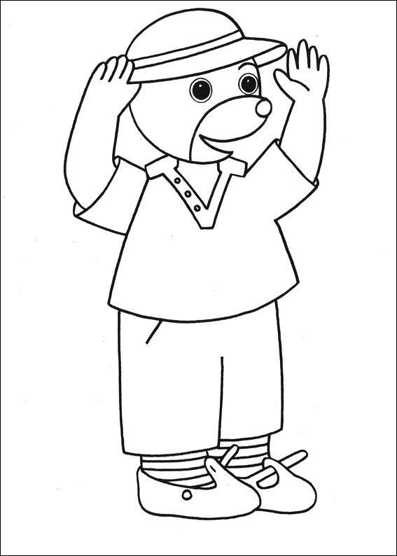 Coloriage a imprimer petit ours brun leve les bras gratuit et colorier - Dessin petit ours ...