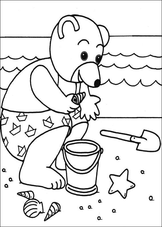 Coloriage a imprimer petit ours brun ramasse des - Coloriage petit ours brun a imprimer ...