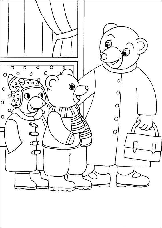 Coloriage a imprimer petit ours brun sort avec son ami et - Coloriage petit ours brun a imprimer ...