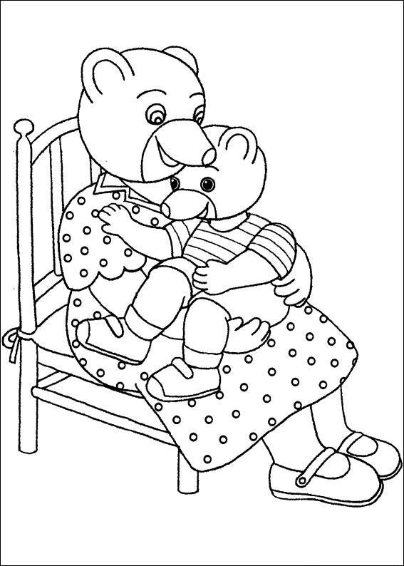 Coloriage a imprimer petit ours brun sur les genoux de sa - Coloriage petit ours brun a imprimer ...