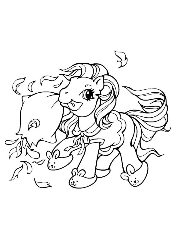 Coloriage a imprimer petit poney bataille de polochon gratuit et colorier - Coloriage petit poney ...