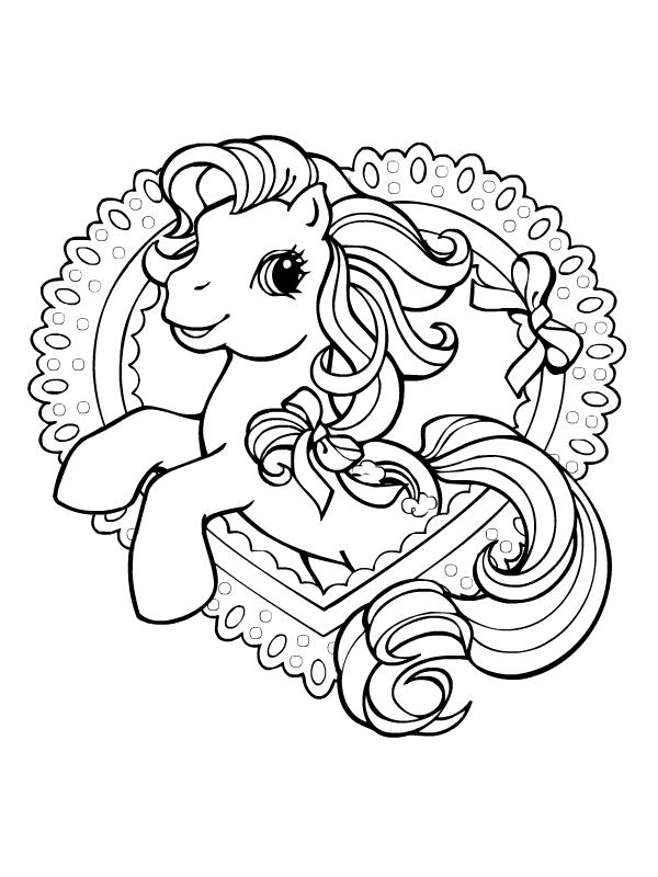 Coloriage a imprimer petit poney coeur gratuit et colorier - Coloriage petit poney ...
