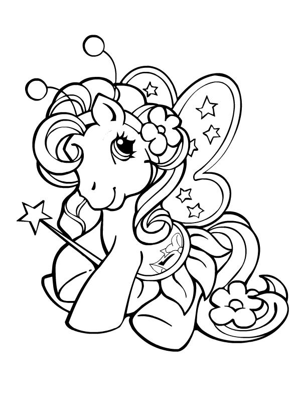Coloriage a imprimer petit poney fee gratuit et colorier - Petit poney coloriage ...