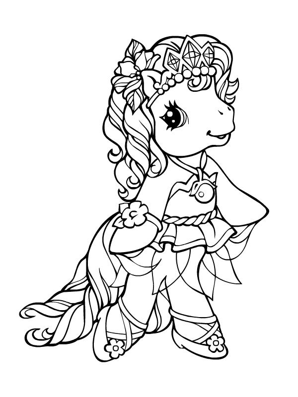 Coloriage a imprimer petit poney princesse gratuit et colorier - Coloriage des princesses ...