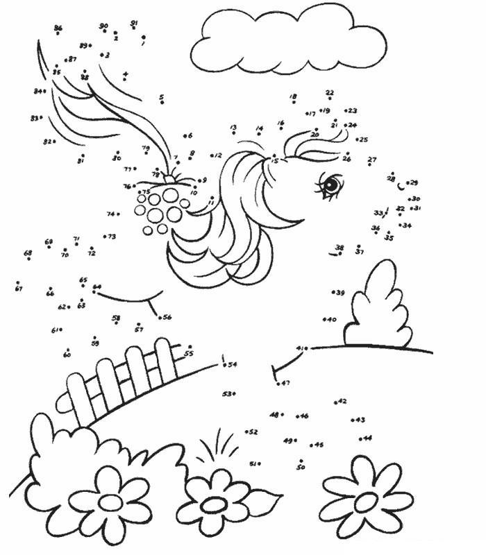 Coloriage point a point a imprimer petit poney saute gratuit et colorier - Dessin point a point ...