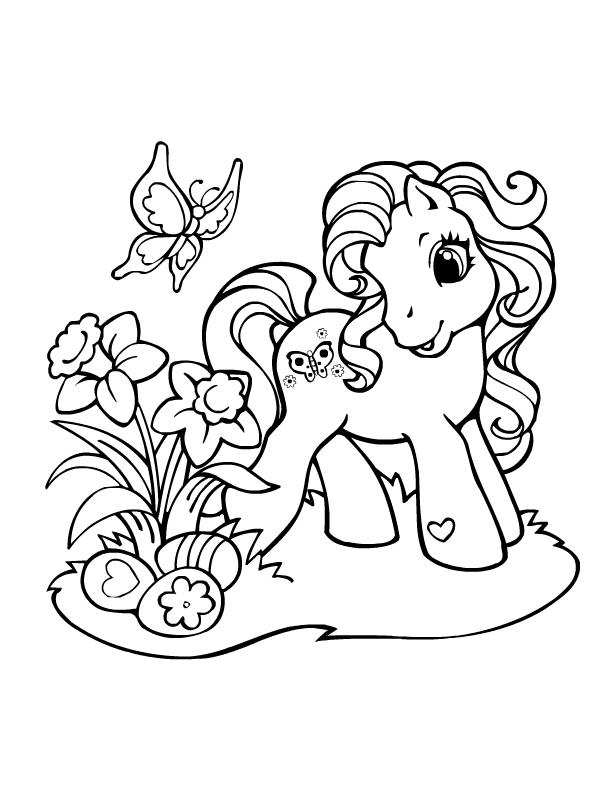 Coloriage a imprimer petit poney trouve les oeufs de - My little pony gratuit ...