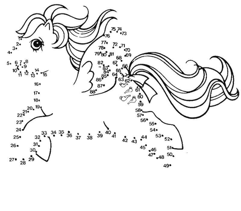 coloriage point a point imprimer gratuit petit poney