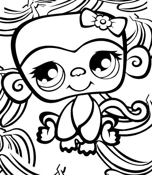 Coloriage a imprimer petshop singe gratuit et colorier - Petshop singe ...
