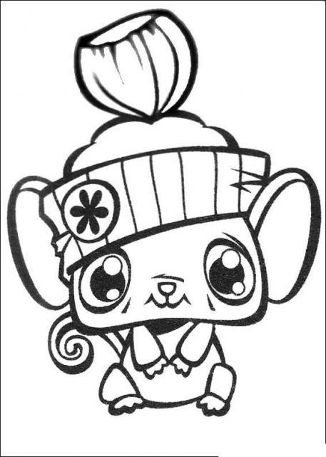 Coloriage a imprimer petshop souris avec bonnet gratuit et - Coloriage de petshop a imprimer gratuit ...