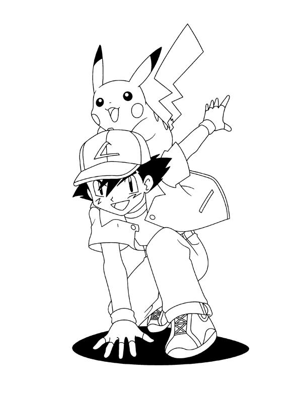 Coloriage a imprimer pikachu et sasha gratuit et colorier - Pikachu a imprimer ...