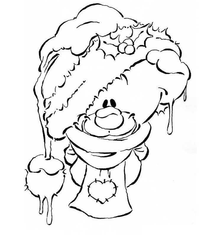 Coloriage a imprimer pimboli avec bonnet de noel gratuit - Dessin de bonnet ...