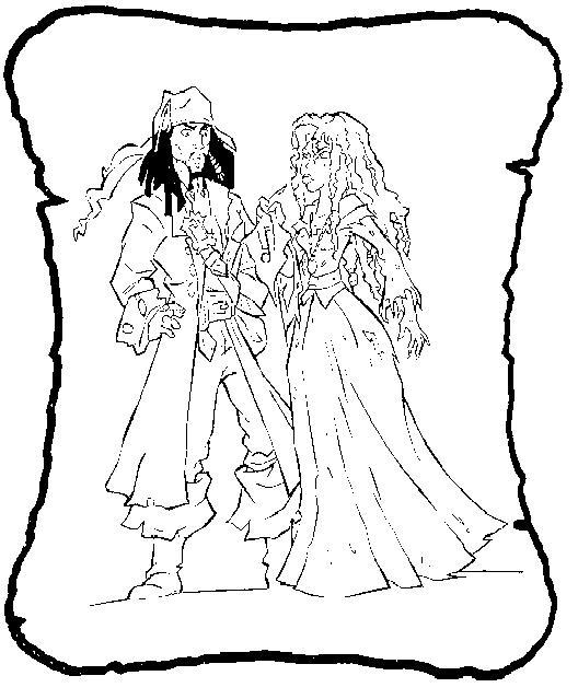 Coloriage a imprimer pirate des caraibes jack et anamaria - Jack et le pirate ...