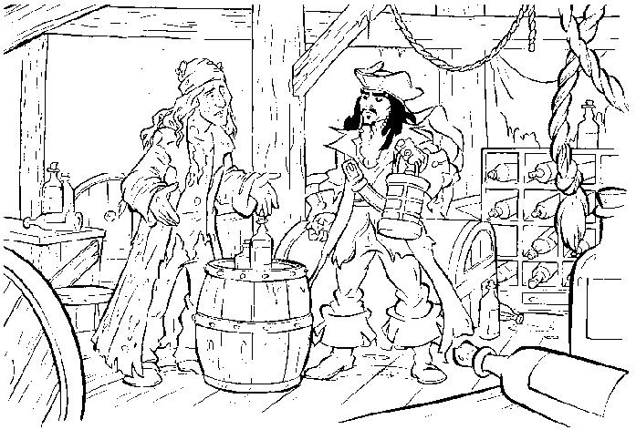 Coloriage a imprimer pirate des caraibes jack et le pirate - Coloriage pirate des caraibes ...