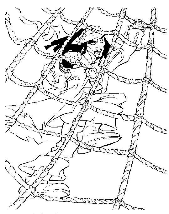 Coloriage a imprimer pirate des caraibes jack monte aux - Coloriage jack le pirate ...