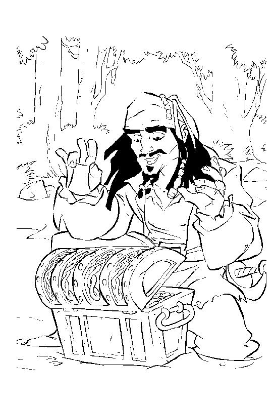 Coloriage a imprimer pirate des caraibes jack sparrow et - Coloriage jack le pirate ...