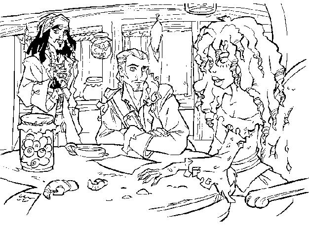 Coloriage a imprimer pirate des caraibes jack william et - Coloriage pirate des caraibes ...