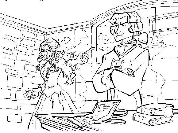 Coloriage a imprimer pirate des caraibes elisabeth - Dessin pirate des caraibes ...