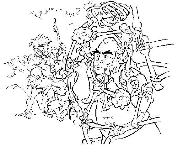 Coloriage a imprimer pirate des caraibes les pirates - Dessin pirate des caraibes ...