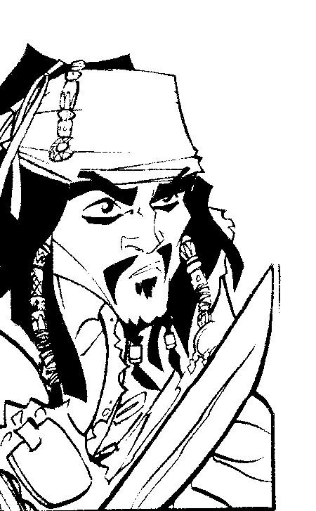 Coloriage a imprimer pirate des caraibes sabre au poing - Des images a colorier et a imprimer ...