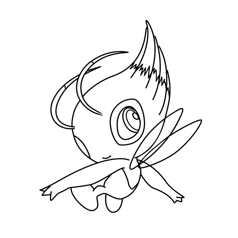 pokemon celebi coloring pages - photo#6