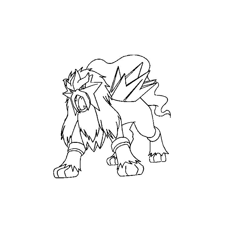 Coloriage a imprimer pokemon entei gratuit et colorier - Pokemon coloriage ex ...