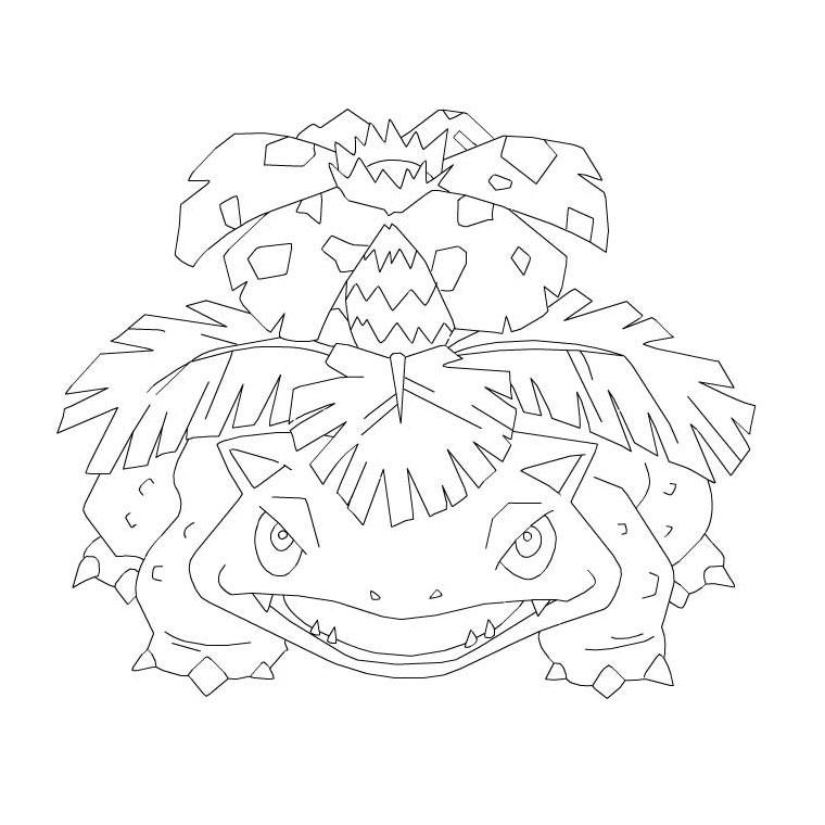 Coloriage a imprimer pokemon florizarre gratuit et colorier - Pokemon gratuit ...