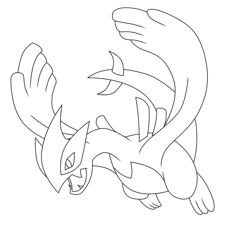 Yvetal Pokemon Coloring Pages