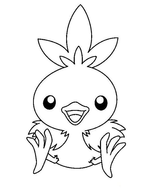 coloriage pokemon poussifeu