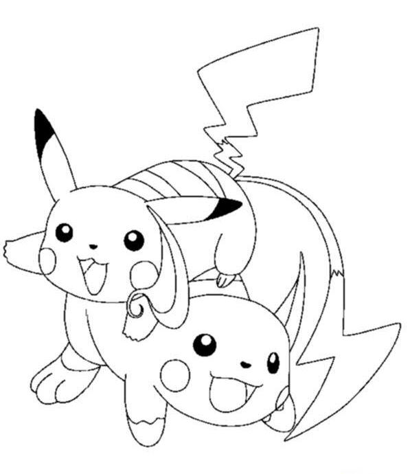 Coloriage a imprimer pokemon raichu et pikachu gratuit et - Pikachu a imprimer ...