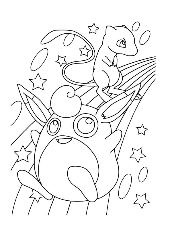 coloriage pokemon rondoudou et celepi