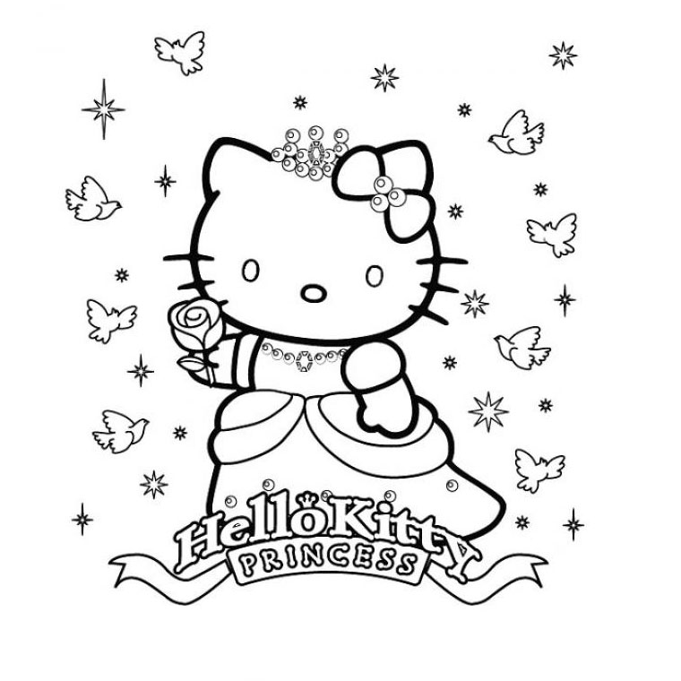 Coloriage a imprimer princesse hello kitty gratuit et colorier - Coloriage hello kitty gratuit ...