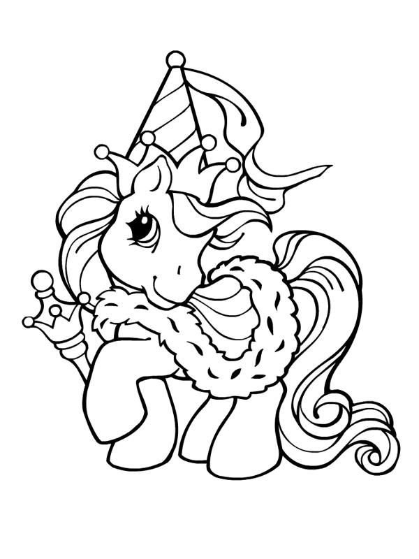 Dessin poney princesse - Coloriage poney ...