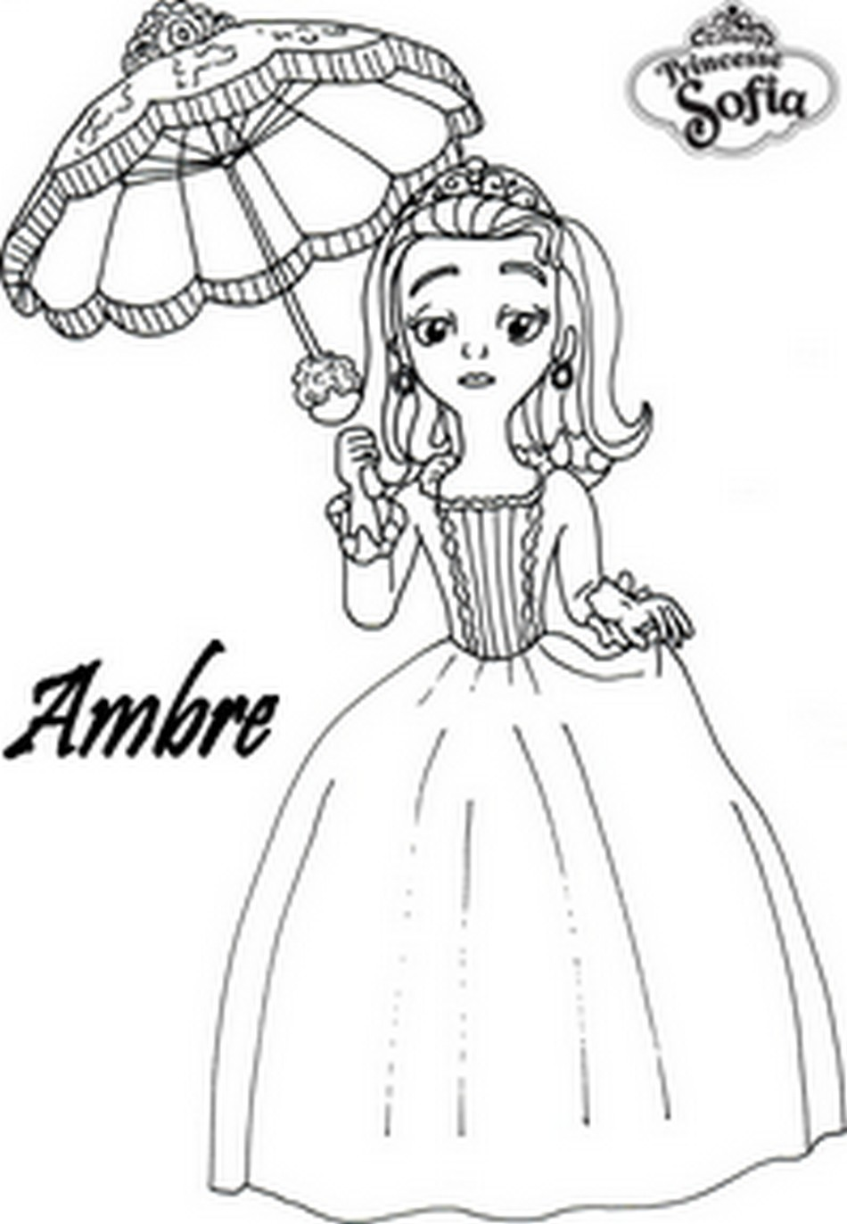 Coloriage a imprimer princesse sofia ambre gratuit et colorier - Coloriage princesse ambre ...