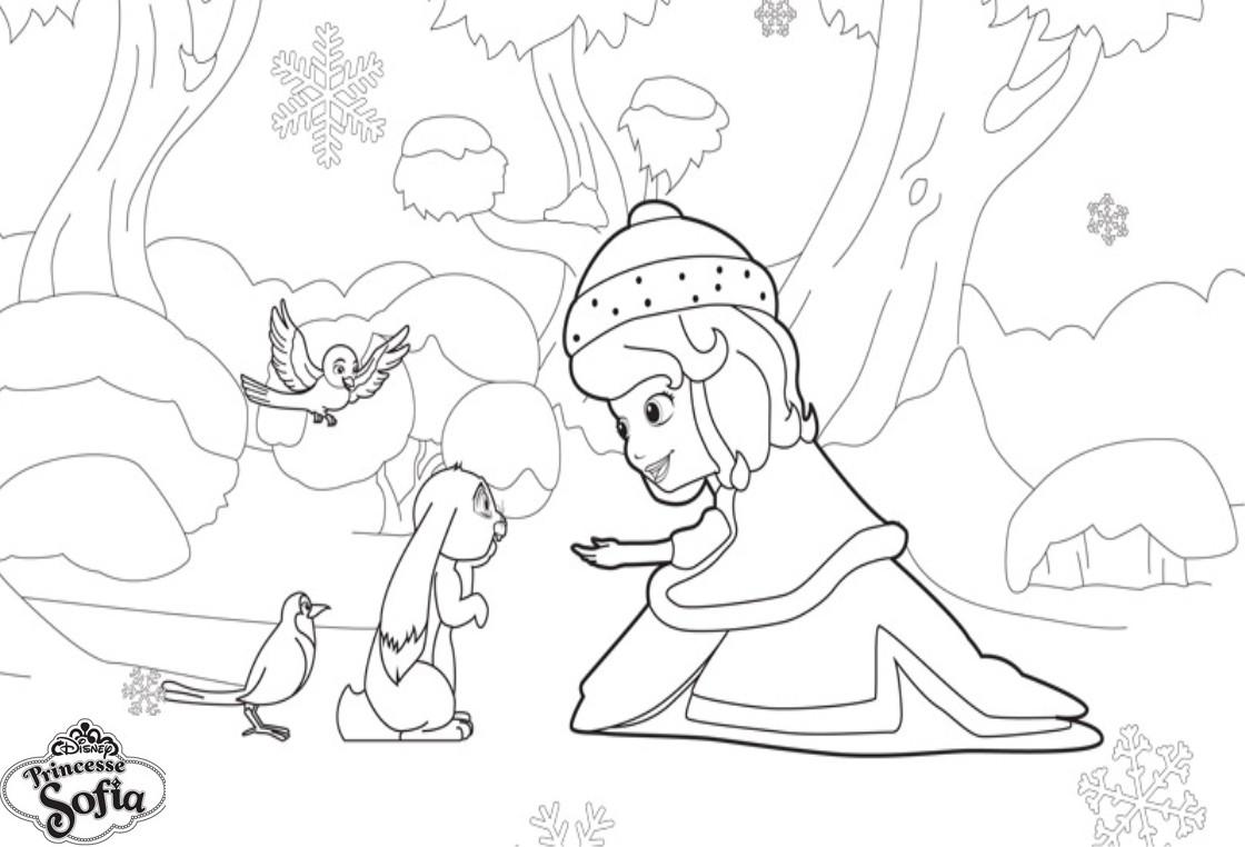 Coloriage a imprimer princesse sofia dans la neige gratuit et colorier - Jeux de princesse sofia sirene gratuit ...