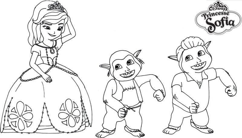 Coloriage Gratuit Trolls.Coloriage A Imprimer Princesse Sofia Et Les Trolls Gratuit