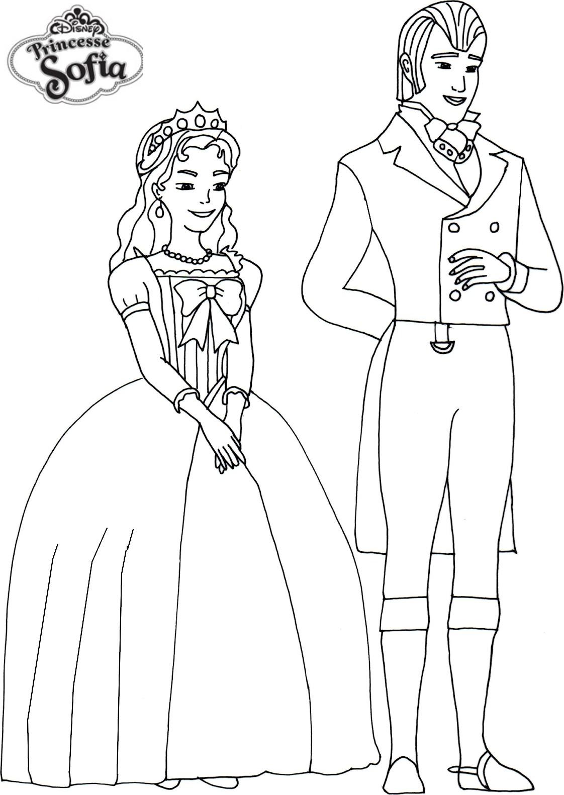 Coloriage Gratuit Princesse Sofia.Coloriage A Imprimer Princesse Sofia Roi Et Reine Gratuit Et Colorier