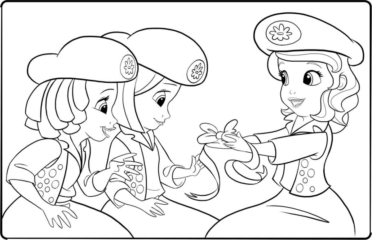 Image princesse sofia a imprimer - Princesse dessin ...