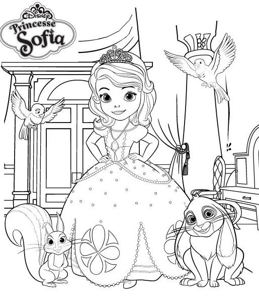 Coloriage a imprimer princesse sofia et ses amis gratuit - Lapin princesse sofia ...