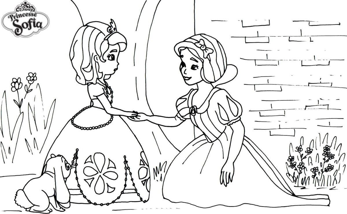 Coloriage De Princesse Blanche Neige A Imprimer.Coloriage A Imprimer Princesse Sofia Et Blanche Neige Gratuit Et