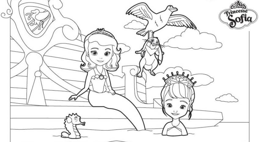 Coloriage a imprimer princesse sofia joue les sirenes gratuit et colorier - Jeux de princesse sofia sirene gratuit ...