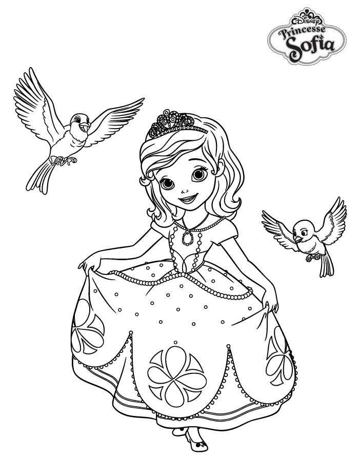 coloriage princesse sofia robin et mia